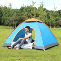 New Outdoor Lazy Tents Portable 3 4 Person Automatic Tent Fast Folding Waterproof Anti UV Hand
