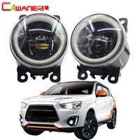 Cawanerl For Mitsubishi ASX 2013 2014 Car 4000LM LED Lamp H11 Fog Light Angel Eye DRL Daytime Running Light 12V 2 Pieces
