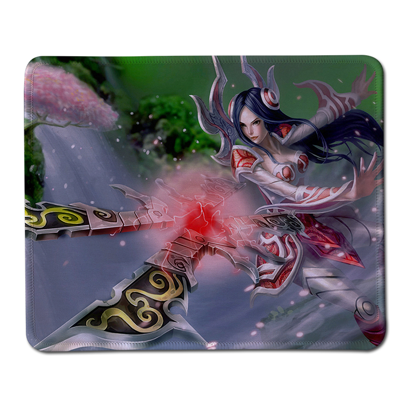 New Anti-Slip League of Legends Cool Mouse Pad Soft Rubber Stitched Edge Gaming Mice Mat PC Computer Mousepad For Christmas Gift