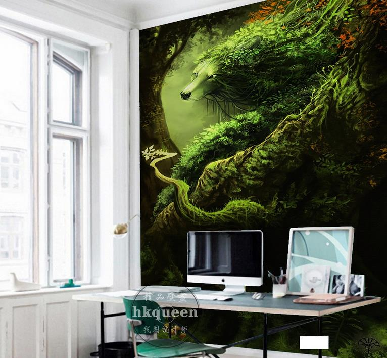 custom 3d mural Forest deep forest wolf 3d wallpapers for living room 3d stereoscopic wallpaper photo wall murals custom photo wallpaper 3d stereoscopic sky ceiling cloud wallpapers for living room mural 3d wallpaper ceiling