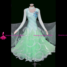 Ballroom Competition Dance Dress Adult Waltz Tango Dancing Clothes High Quality Long Sleeve Standard Ballroom Dresses