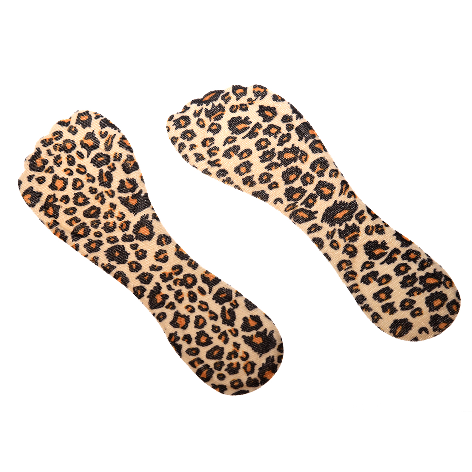 Fashion Boutique 1 Pair Silicone Heeled Shoes Insoles Adhesive Pads - Leopards fashion boutique silicone gel insoles