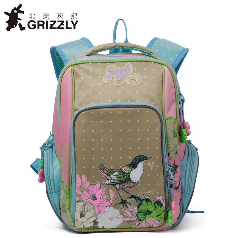 GRIZZLY 2019 ใหม่รัสเซียเด็กกระเป๋าเป้สะพายหลังการ์ตูนน่ารักโรงเรียนกันน้ำเด็กโรงเรียนสำหรับสาวเกรด 1 4-ใน กระเป๋านักเรียน จาก สัมภาระและกระเป๋า บน   1