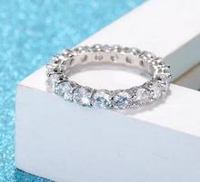 T730 925 Серебряное кольцо для женщин с фианитами