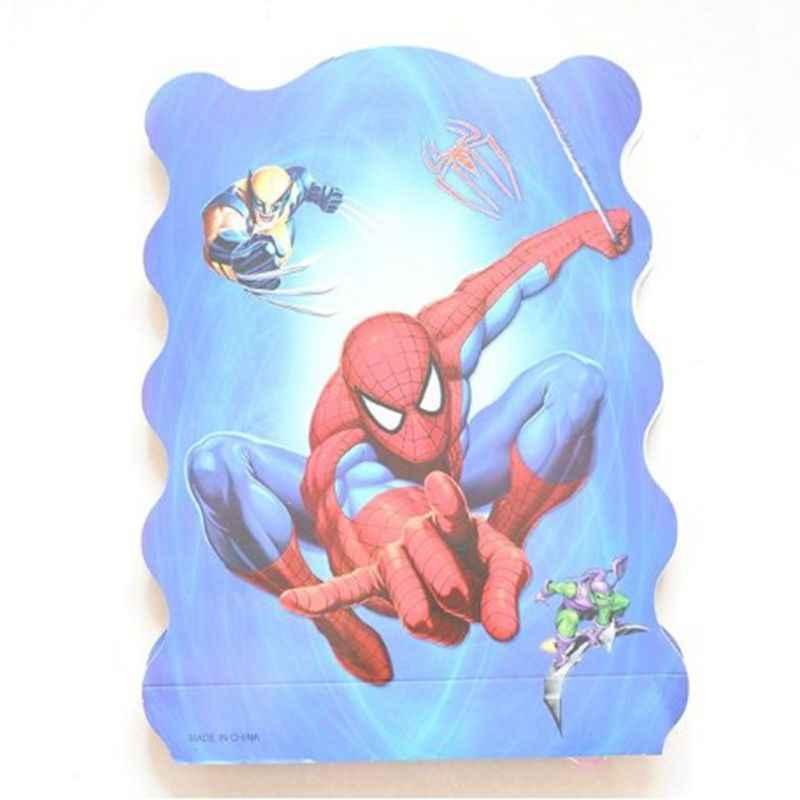 10 ชิ้น/ล็อต 7 นิ้ว Spiderman วันเกิดงานแต่งงานอุปกรณ์ตกแต่งจานเค้กแผ่นกระดาษทิ้ง Baby Shower Favors