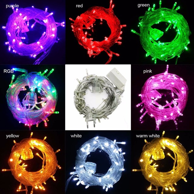 connectable fairy lights led string light 10m 100leds party wedding decoration christmas lights outdoor patio garland