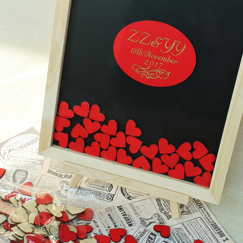 Prilagođeno vjenčanje Knjiga gostiju Alternativne personalizirane - Za blagdane i zabave - Foto 2