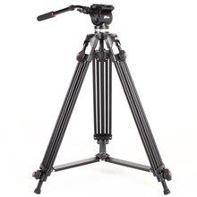 JY-0508 фотографии камера Studio Видео штатив JIEYANG JY0508 Professional стенд для Dslr с жидкости демпфирования головы нагрузка 5 кг