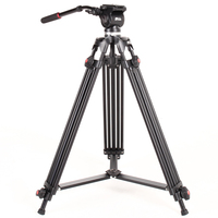 JY 0508 Photography Camera Studio Video Tripod JIEYANG JY0508 Professional Stand for Dslr with Fluid Damping Head Load 5KG
