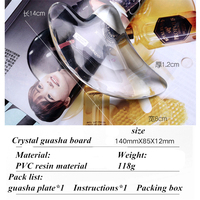 New 1 Piece Dolphin Crystal Guasha Plate Facial Massage Tool SPA Acupuncture Stone Scraper Body Massager Chinese Traditional