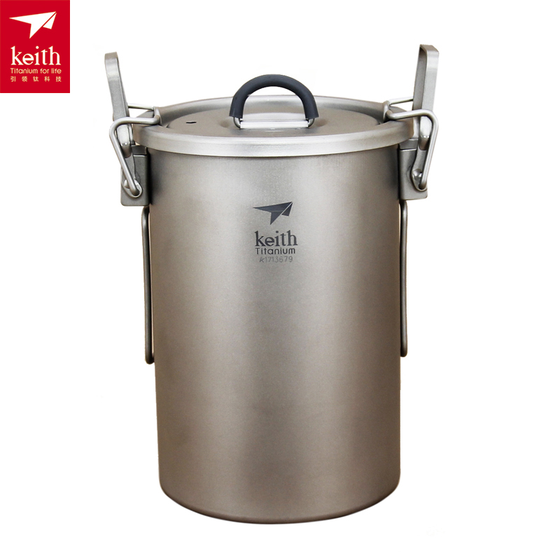 Keith 900ML Titanium Nonstick Rice Cooker Camping Pot 256g Ti6300 keith kp6013 titanium pot w plate set silver 1 2l