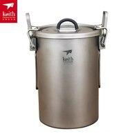 Keith 900ML Titanium Nonstick Rice Cooker Camping Pot 256g Ti6300