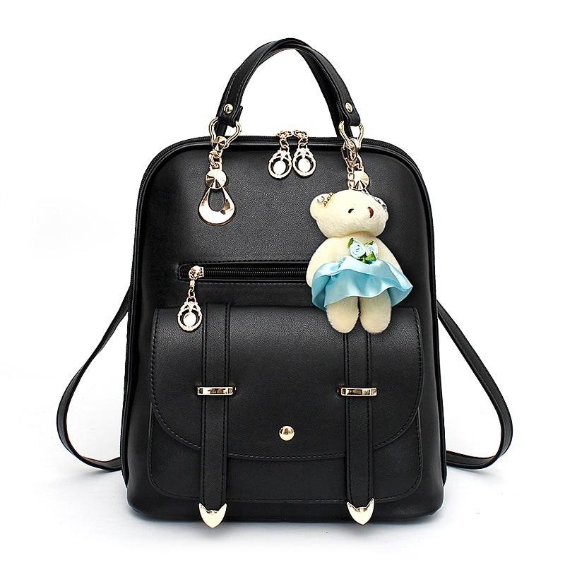 Cute Monkey Girls Backpacks Fashion Girls School Bags Monkey Backpack Bag for Girl School Backpack PU Leather Black Bag Fashion