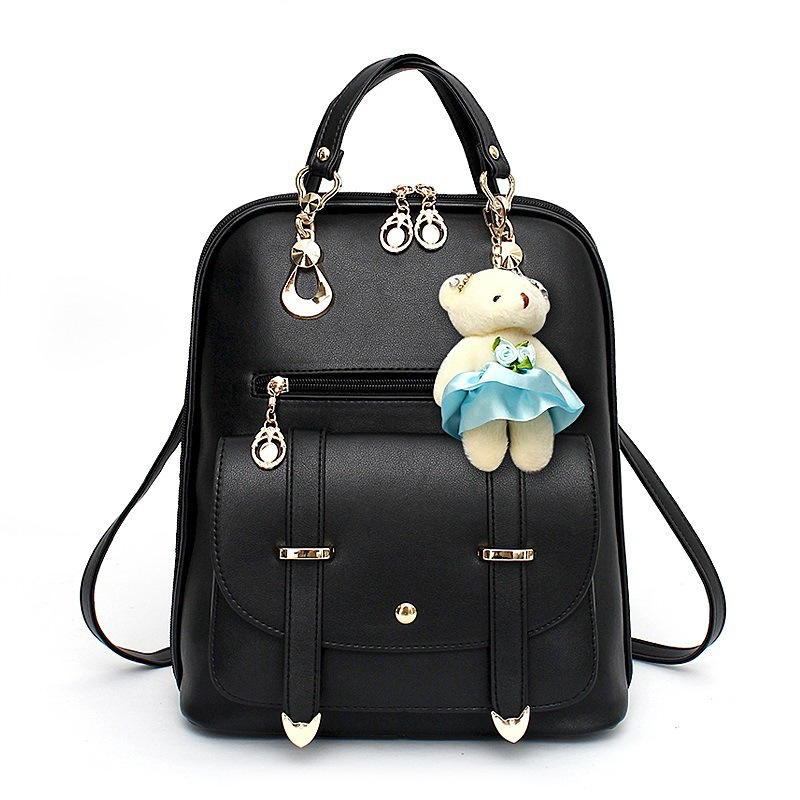 Cute Monkey Girls Backpacks Fashion Girls School Bags Monkey Backpack Bag for Girl School Backpack PU Leather Black Bag Fashion