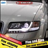 2PCS Car Style LED headlights fo Audi A4 2001 2004 for A4 head lamp LED DRL Lens Double Beam H7 HID Xenon bi xenon lens