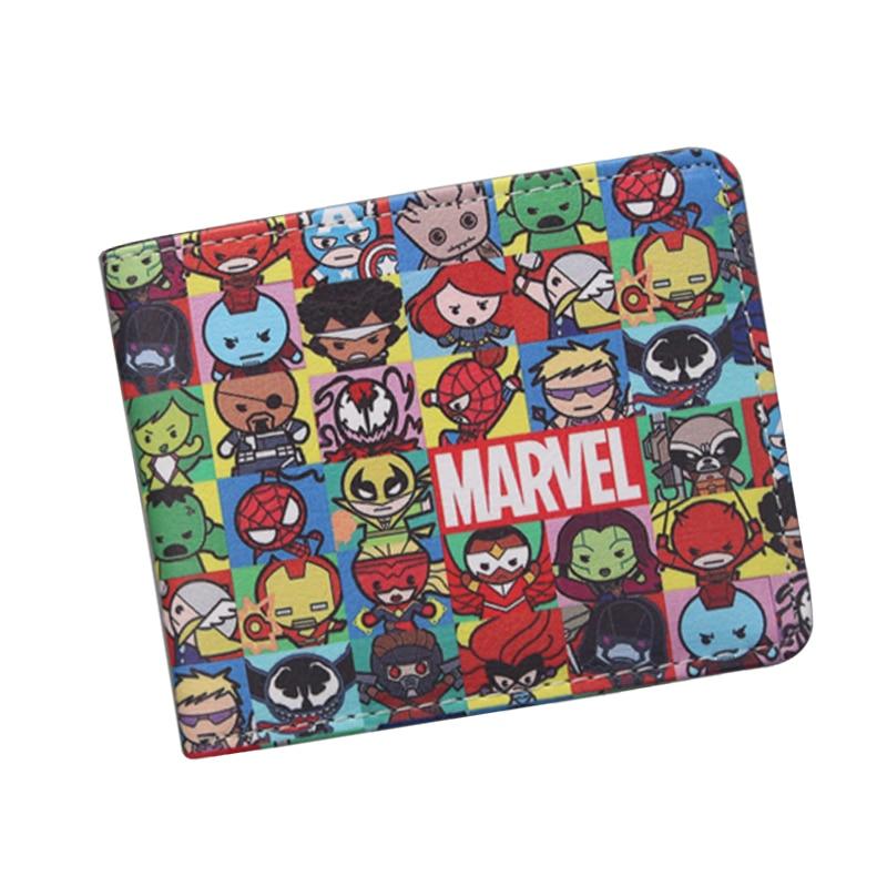 New Personalized Avengers Wallets BiFold Captain America Men Wallet Alliance Cartoon Com ...