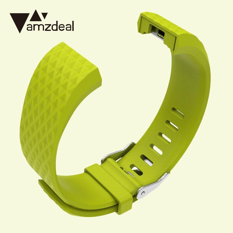 amzdeal 3D Diamond Original environmental Silicone Multicolor Replacement Wristband TPE+ ...