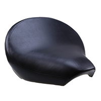 Black PU Leather Motorcycle Seat Front Seat Cover Cushion Cafe Racer Seat Driver Pillion Passenger For Yamaha Vstar 1100 1998