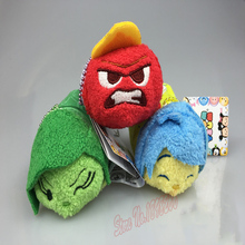 Pixar 2015 Cartoon Animation Inside Out Pixar Moive Inside Out Toy Tsum Tsum Mini Anger Joy Fear Disgust Sadness Plush Toys Doll