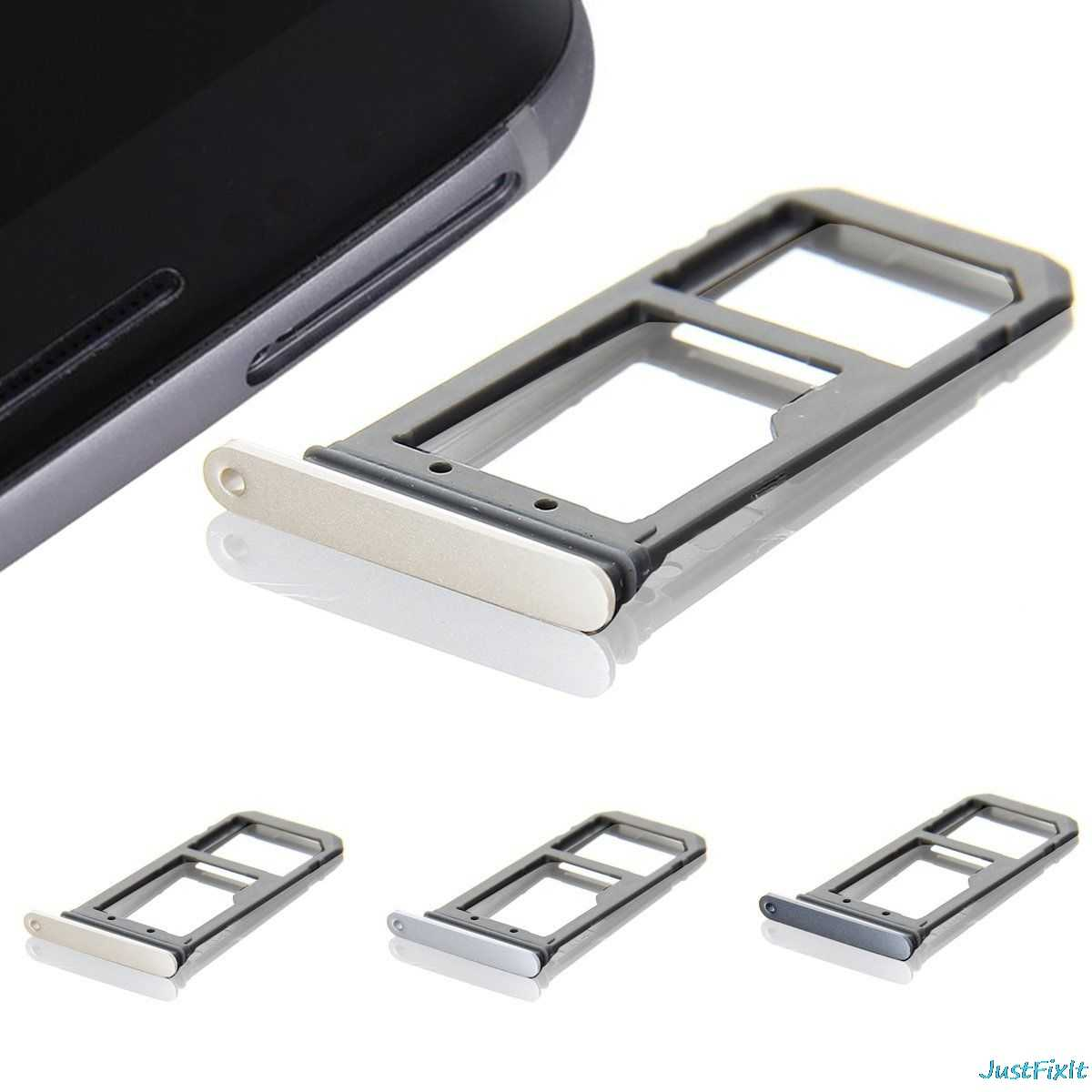 New SIM Card Tray Slot Holder For Samsung Galaxy S7 Edge G935f  G935a Replacement Case Repair Parts Sim Card Adapter