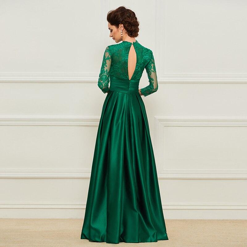 Dressv Green Mama lunga a rochiei de mireasa Fusta trei sferturi Lace - Rochii de seară de nuntă - Fotografie 3