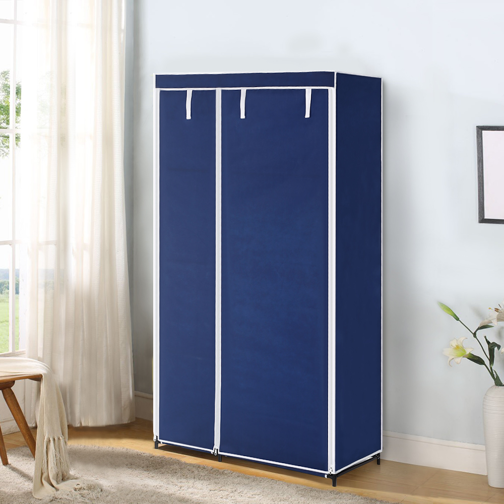 IKayaa US UK FR Stock Wardrobe Fabric Closet Wardrobe Cabinet Roll Up  Organizer Clothes Hanger Rack With 5 Storage Shelves In Wardrobes From  Furniture On ...