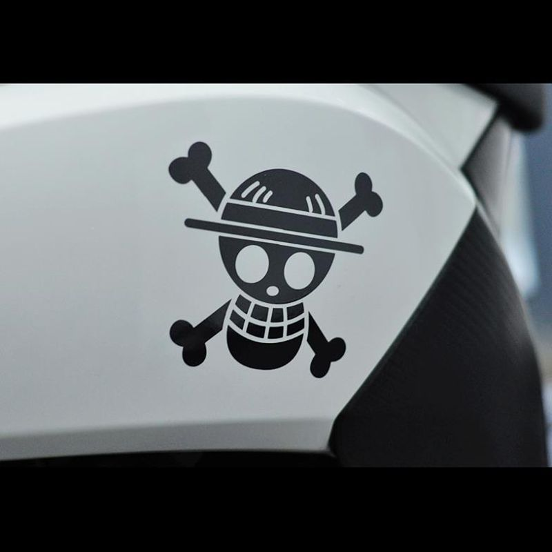 One Piece car stickers and portable decals for motorcyclele set car stickers free shipping