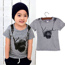 Summer Beach Baby Toddler Kids Boys Casual 3D Camera Tops T-Shirts Pants Outfits Set
