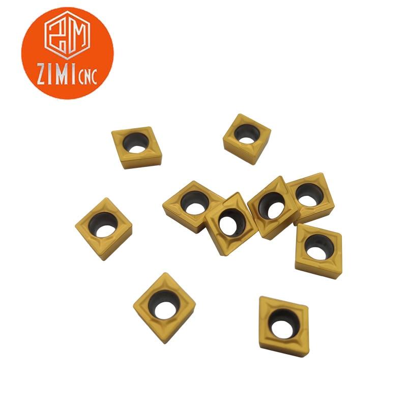 10PCS//Box CCMT060204 CCMT21.51 UE6020 Carbide Insert Lot Turning Tool CNC