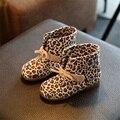 Sapatas dos miúdos meninas Meninos 3 Cores Leopard Black Brown Alta menina Sneakers Crianças Sapatos de Desporto Sapatos de Bebê Outono Inverno para Crianças