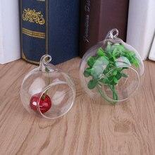 Висячие Подсвечники Стеклянный подсвечник чайная Колонка блока шар подсвечник держатель ваза прозрачный Террариум стеклянные контейнеры