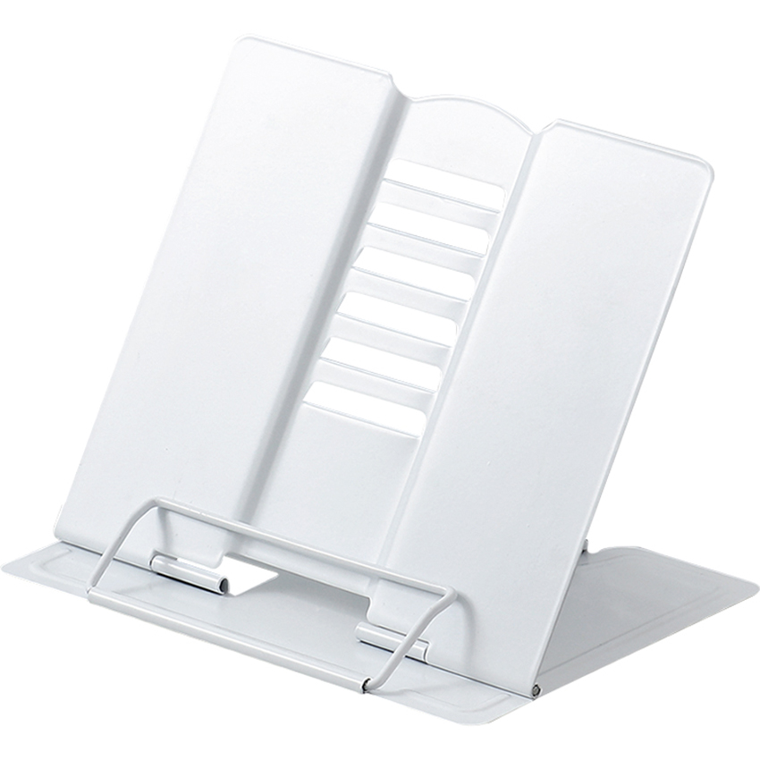 <font><b>Metal</b></font> <font><b>Book</b></font> <font><b>Stand</b></font>, 6-gear Adjustable <font><b>Book</b></font> Holder Tray and Page Paper Clips-Cookbook Reading Desk Portable Textbooks Bookstands image