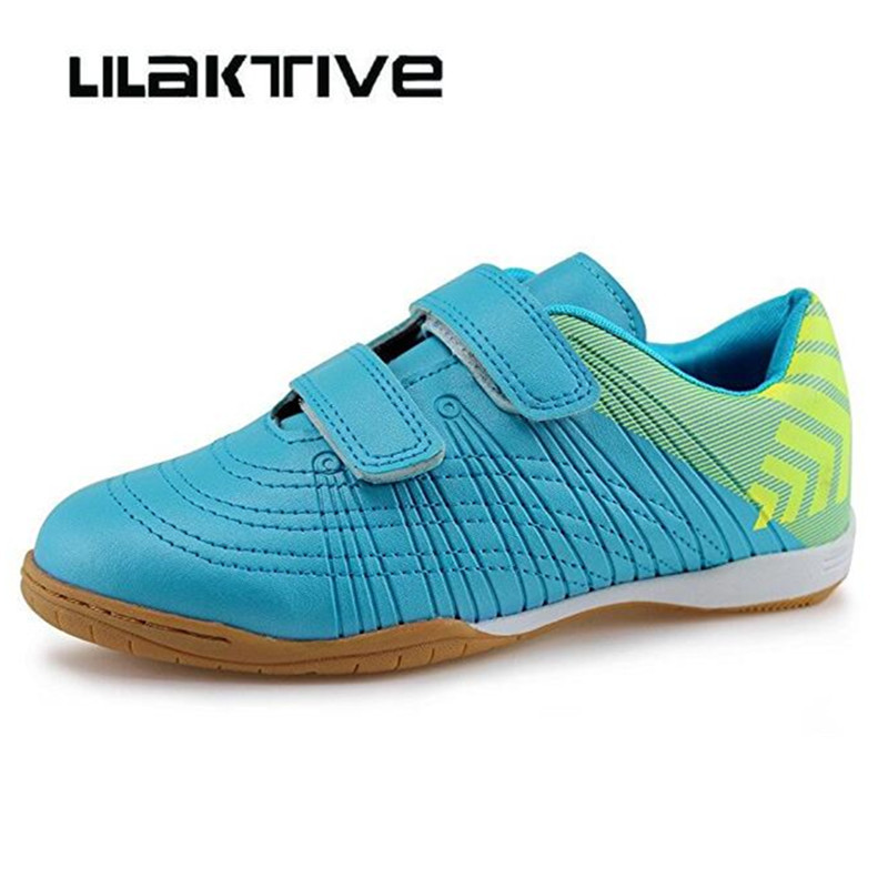 Professional Kids Soccer  Shoes Boys Indoor Breathable Sneakers Boys Hook & Loop Football Shoes Children Athletics Shoes