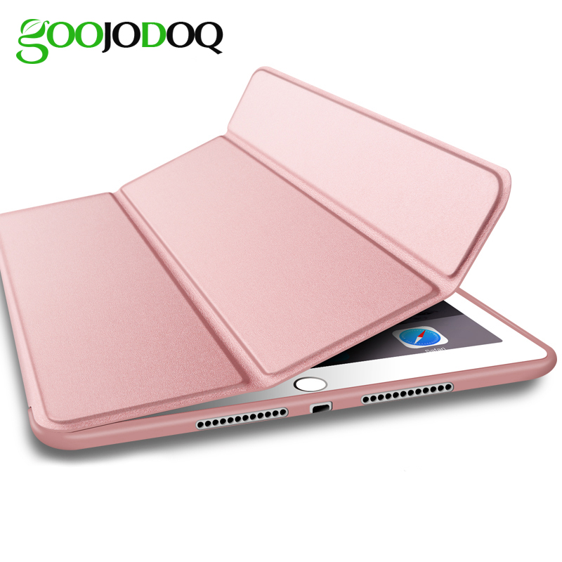 For iPad Pro 9.7 2017 Magnetic Smart Case For iPad Pro 9.7 PU Leather Cover Silicone Soft Back Trifold Stand Auto Sleep/Wake for ipad pro 9 7 5 shapes smart case soft tpu back case slim pu leather magnetic cover for ipad 7 air 3 auto sleep wake a66