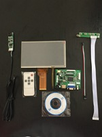 LCD Module 7inch LCD With Touch Screen For Raspberry Pi 3 Driver Board Remote Control For