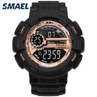 Sport Watches Camouflage Watch Band SMAEL Men Watch 50m Waterproof Top S Shock Watch Men LED
