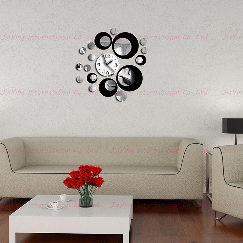 Double Color New 3D Home Decoration Wall Clock Stickers Decal Diy