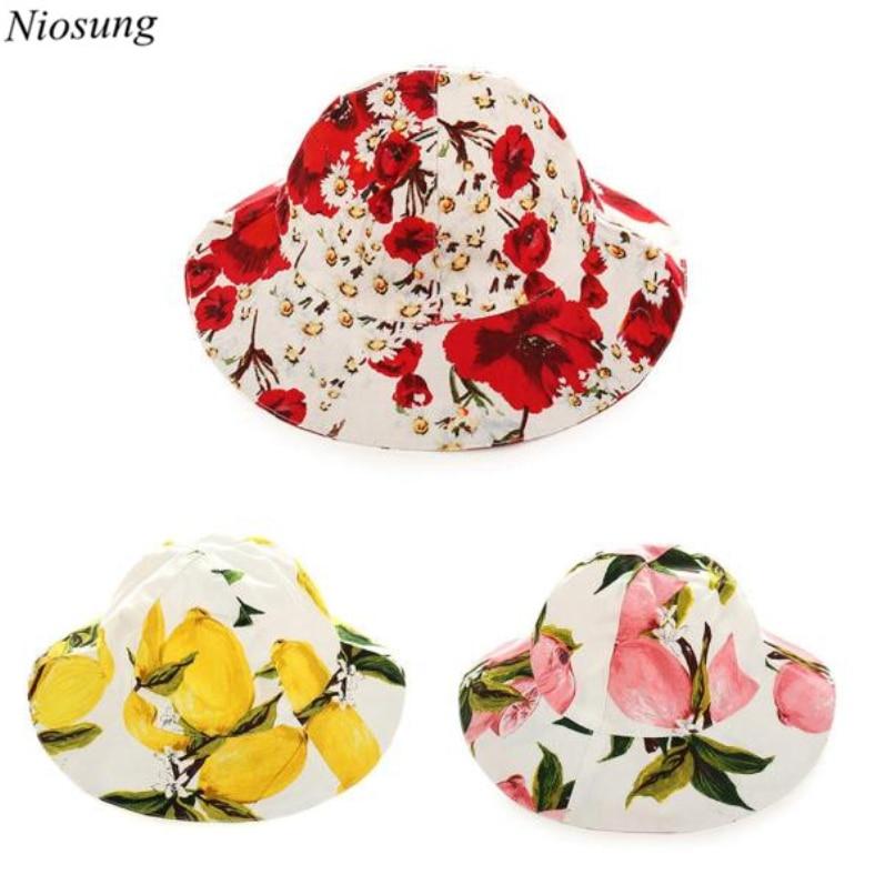 Niosung/милая детская Дети Обувь для девочек Цветочный принт Бейсбол Кепки Смешанный хлопок Sunhat Hat для ребенка Уход за младенцами Костюмы