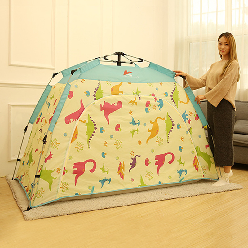 Children Tent Automatic Install Folding Play House Tent For Kids Tipi Tent For Outdoor Travel Mosquito Net Baby Beach Tent interior tent korea tent children tent saving warm in winter breathable children s tent play house