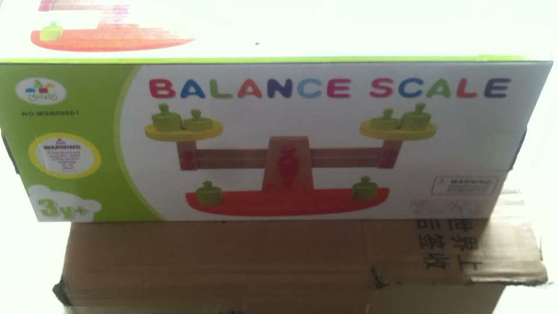 Weight balance scale Baby toys wooden toys