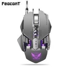 Wired Gaming Maus 3200 DPI USB Professional Gaming Mechanische Mäuse 7 schlüssel Makro Definition Programmierung Spiel Mäuse Für Pc Spiel