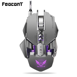 Image 1 - Wired Gaming Mouse 3200 DPI USB Professional Gaming Mechanical Mice 7 key Macro Definition Programming Game Mice For Pc Game