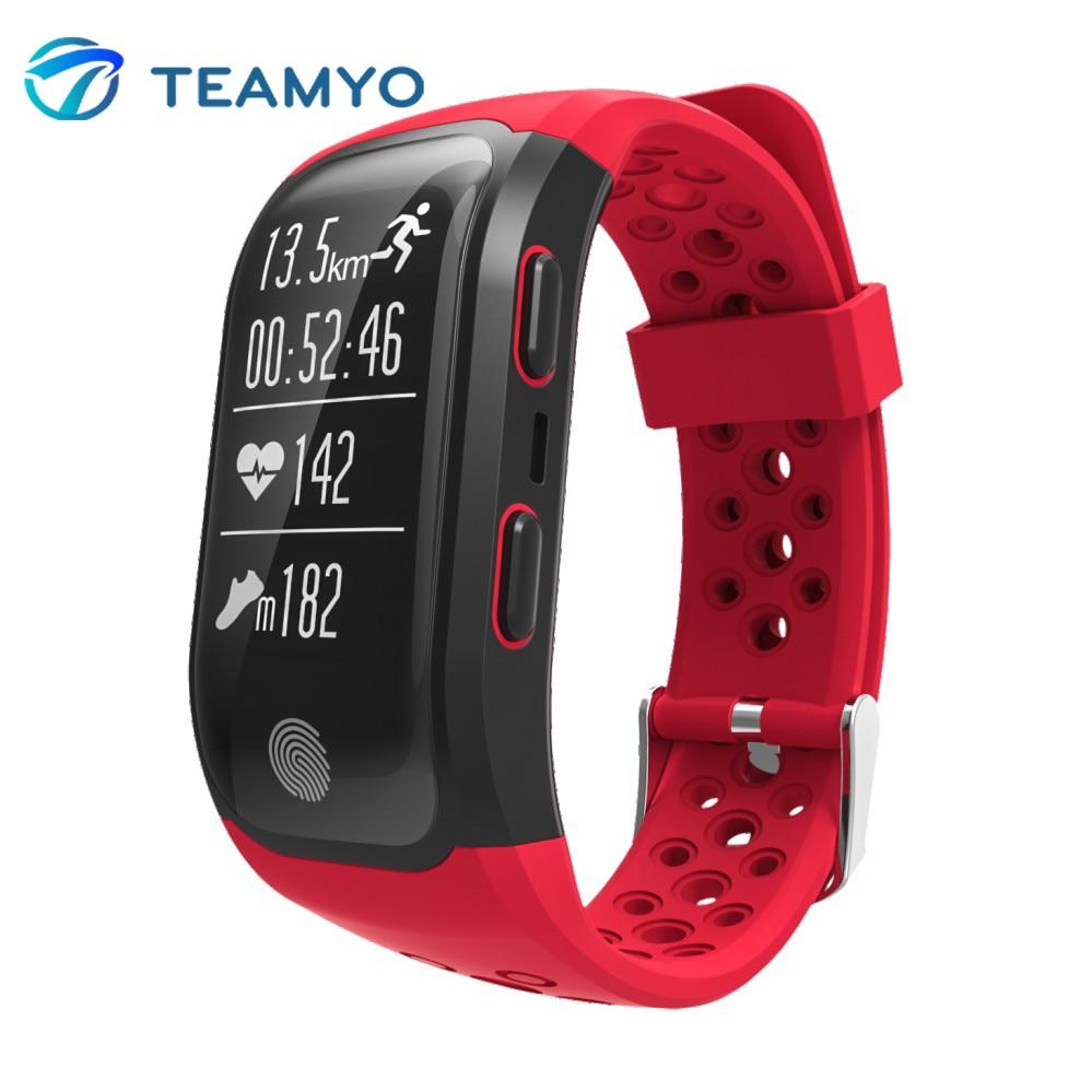 Teamyo Bluetooth Smart Band S908 with GPS Wristband IP68 Waterproof Pedometer Heart Rate Monitor Fitness Tracker Smart Bracelet smart bracelet waterproof dw06 android watch gps sport band fitness tracker heart rate monitor pedometer wristband for men women
