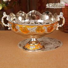 European high-grade gold fruit plate glue Hotel KTV Home Furnishing desktop garbage bowl bowl peel peel cup