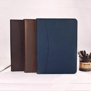 Image 4 - A4 fermuar kıdemli PU deri iş iş yöneticisi çantası konferans dosya klasörü organizatör satış sözleşmesi klasörleri portföyleri 641B