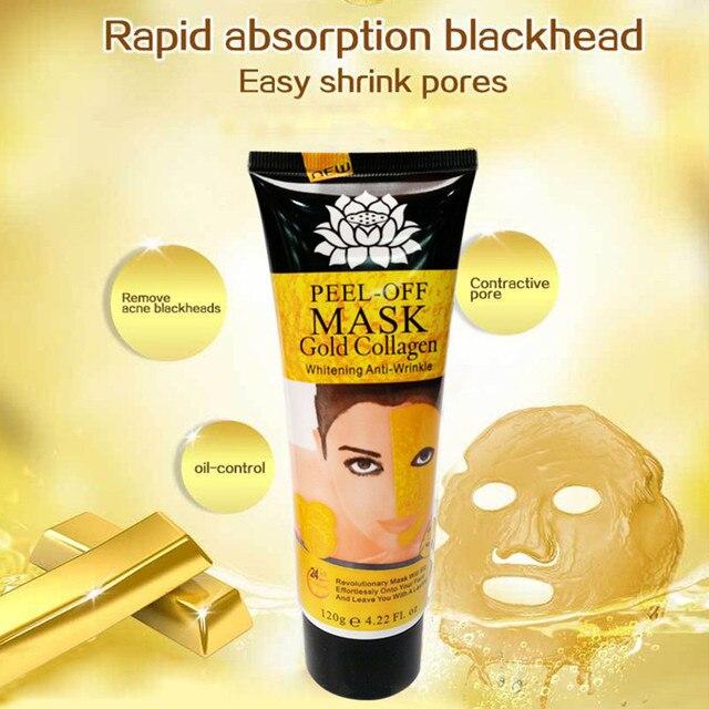 60g 24 K colágeno de oro amarillo máscara Facial removedor de espinillas máscara de acné cara de máscara cuidado de la piel TSLM2