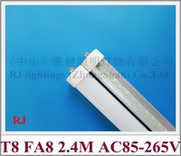FA8 Single Pin LED Tube T8 LED Bulb Tubes 2400mm FA8 SMD2835 192 Led 4800lm 40W