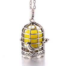 New Aroma Diffuser Necklace vintage birdcage open cage Pendant Perfume Essential Oil Aromatherapy Locket Pendant Necklace new aroma diffuser necklace open antique vintage lockets pendant perfume essential oil aromatherapy locket necklace with pads