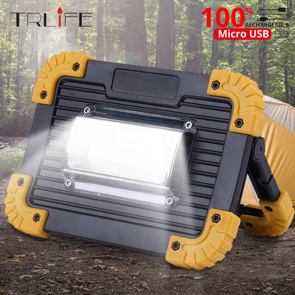 100W Portable Spotlight Led Work Light USB Rechargeable Flashlight Outdoor Travel Lamp For Camping Lantern Use 18650 Battery