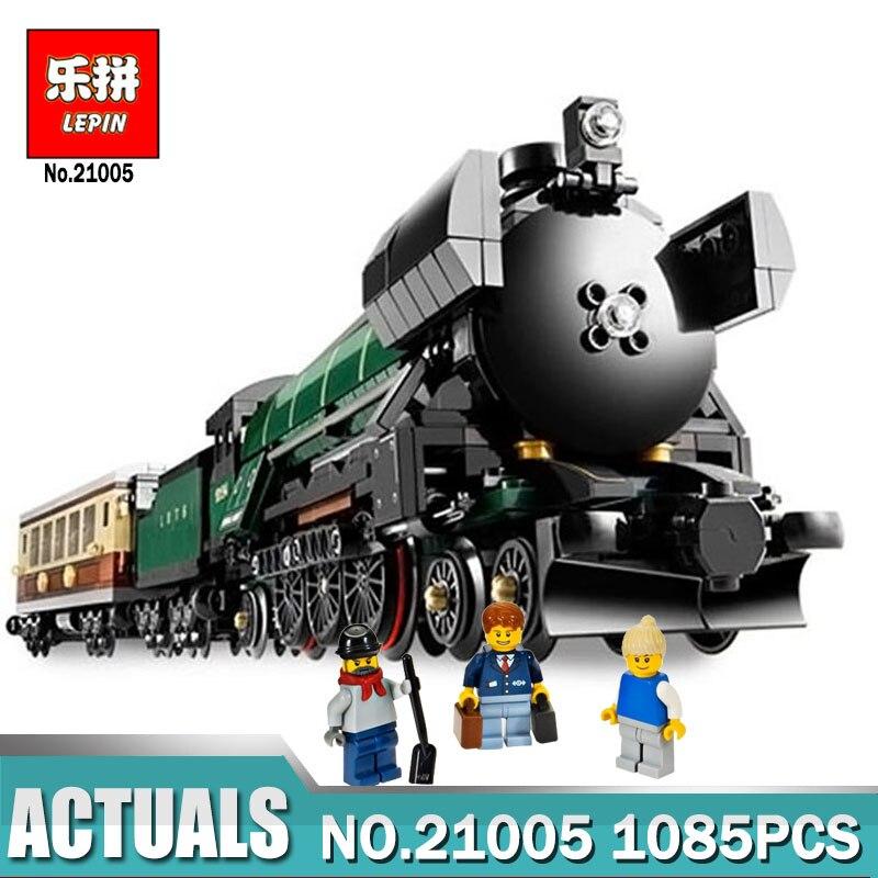 In-Stock LEPIN 21005 1085Pcs Technic Series Emerald Night Train Model Building Kits Block Bricks Children Toys Legoinglys 10194